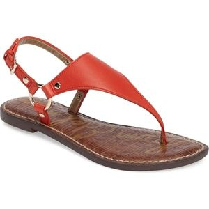 Sam Edelman Womens Leather Greta Sandals RED